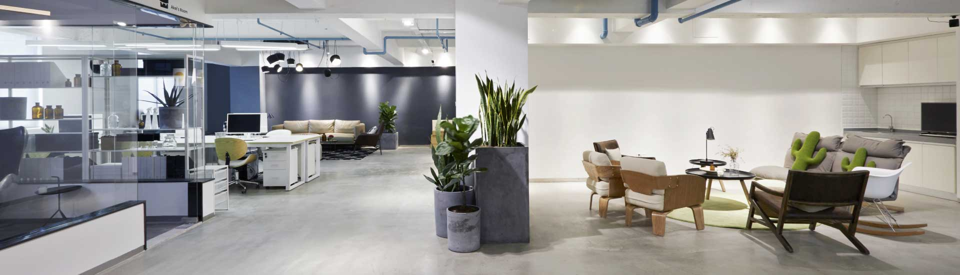 Optimally lit office and common areas after a successful commercial lighting upgrade